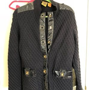 Tory Burch Wool navy cardigan